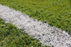 Close-up synthetic grass for football soccer sport field Royalty Free Stock Photos