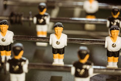 Close up of table football Royalty Free Stock Image