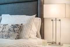 Close-up of a table lamp in a living room Stock Photo