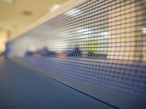 Close up table tennis net stock image