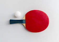 Close up of table tennis rackets with ball Stock Image