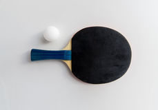 Close up of table tennis rackets with ball Royalty Free Stock Photography