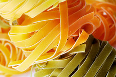 Close-up of tagliatelle Royalty Free Stock Photos