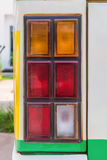 close up of tail lamps on an old pick up truck Royalty Free Stock Image