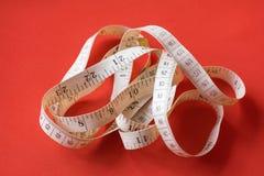 Close Up Tailor Measuring Tape Royalty Free Stock Photos