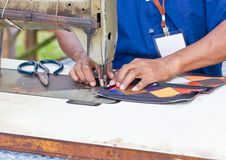 Close Up Of Tailor Working. Stock Photos