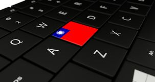 Close up of Taiwan button. Royalty Free Stock Photo