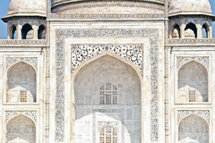 Close up of the Taj Mahal archway Stock Images