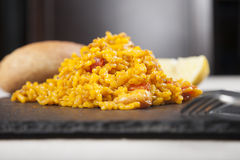 Close up tapa of paella Stock Photography