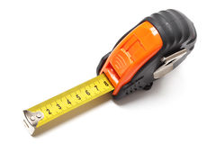 Close up of tape measure. Royalty Free Stock Images