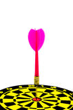 Close up target dart. Royalty Free Stock Image