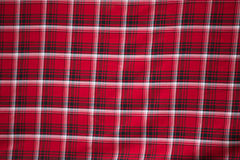 Close-up of tartan fabric. royalty free stock images