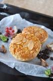 Close up Tasty Almonds Tart Stock Photo