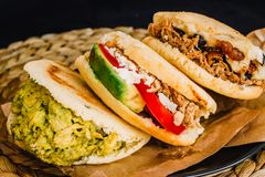 Close-up of tasty arepas typical from Venezuela and Colombia