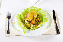 Close up Tasty Chicken Dish with Egg and Veggies Royalty Free Stock Photography