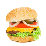 Close up of tasty hamburger. Stock Images