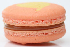Close up of Tasty orange macaroon Stock Photos