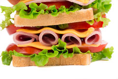 Close up of tasty sandwich. Royalty Free Stock Images