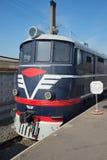Close-up TE-7 locomotivo do passageiro do táxi Museu Railway, St Petersburg Fotos de Stock Royalty Free