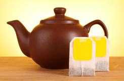 Close-up of tea bag Stock Image