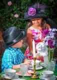 Close up of tea party Royalty Free Stock Photos