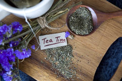 Close up tea time tag Stock Image
