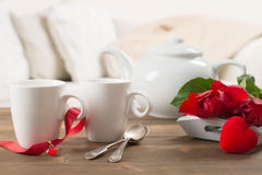 Close Up Of Teacups Royalty Free Stock Image