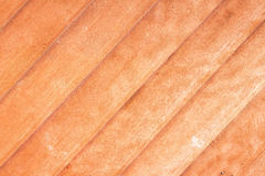 Close-up of teak wood plank texture Royalty Free Stock Images