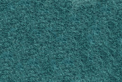 Close-up of Teal synthetic fibrous surface Royalty Free Stock Image
