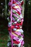 Close up tecido do Maypole Imagens de Stock