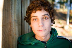Close up of a teen boy Royalty Free Stock Image