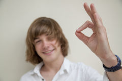 Close up of teen boy Stock Photography