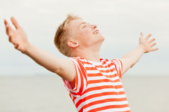 Close up of teen with open arms Stock Image