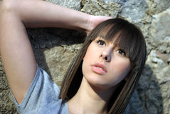 Close-up of a teenage girl Royalty Free Stock Image