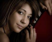 close up of teenage girl Stock Photo