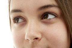 Close-Up Of Teenage Girl's Eye Royalty Free Stock Images
