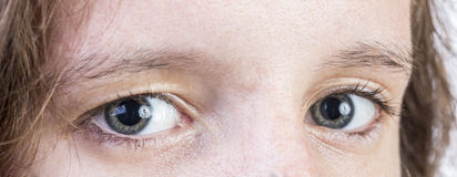 Close up of teens eyes. A Close up of a teens eyes Royalty Free Stock Photos