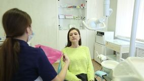 Close-up of a teeth treatment at the dentistry. Hd stock video