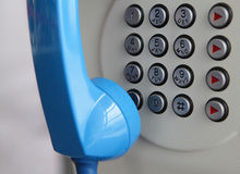 Close up of telephone. Close up of phone with number buttons Royalty Free Stock Image