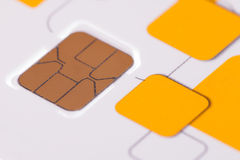 Close up telephone sim card Royalty Free Stock Images