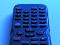 Close Up of Television Remote Control stock image