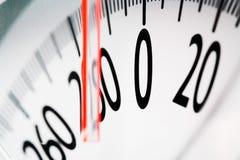 Close-up of temperature gauge Stock Photography