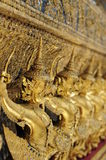 Close-up of temple guards. Close-up picture of the temple guards of the grand palace in Bangkok Royalty Free Stock Photo