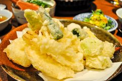 Close-up of a tempura dish stock image