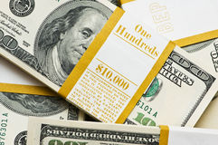 Close up of ten thousand pack Stock Photography