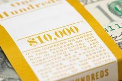 close up of ten thousand pack - shallow DOF Stock Photography