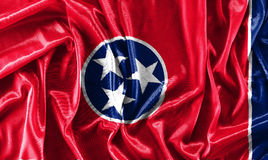 Close-up of the Tennessee state - USA. A close-up of the Tennessee state - USA - waving fabric background Stock Photos