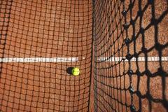 Close up of tennis ball Stock Photography