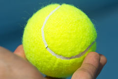 Close up of a tennis ball Royalty Free Stock Images