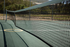 Close up of tennis court. On sunny day Royalty Free Stock Photography